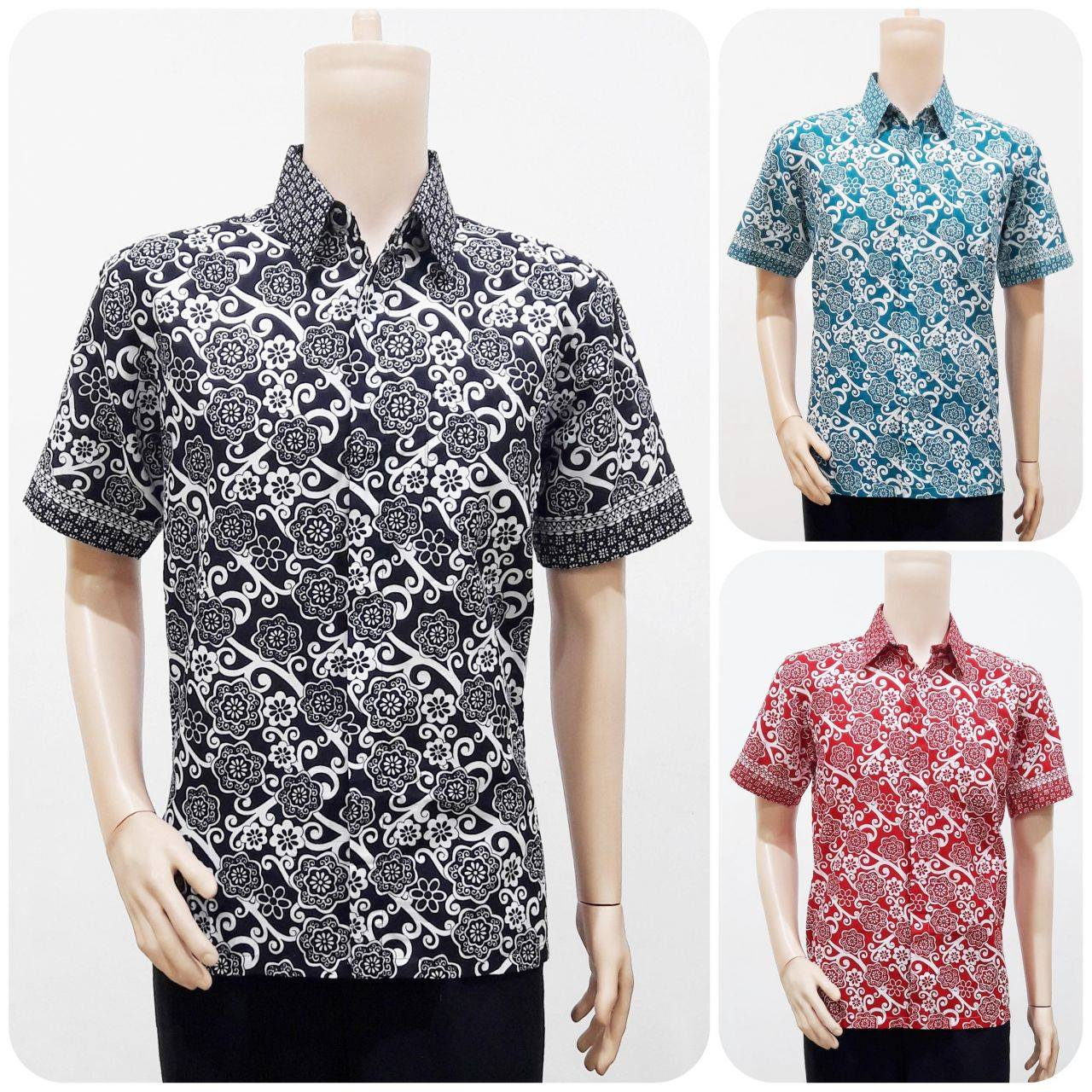 Potongan Baju Batik Pria: Model Baju Batik Pria Motif Bunga