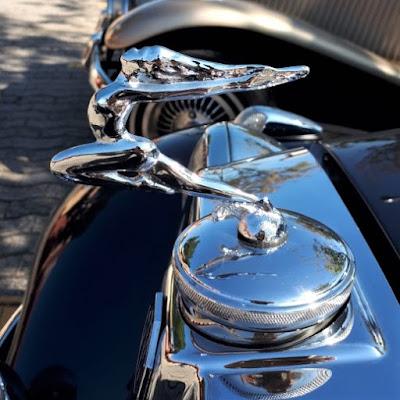O símbolo da liberdade no topo do colete de um carro inspirado neste sentimento.