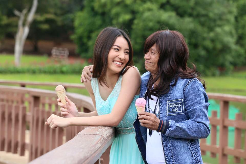Bay Lu Wa and Thai Actress Patchara In New Myanmar Movie Behind The Scenes