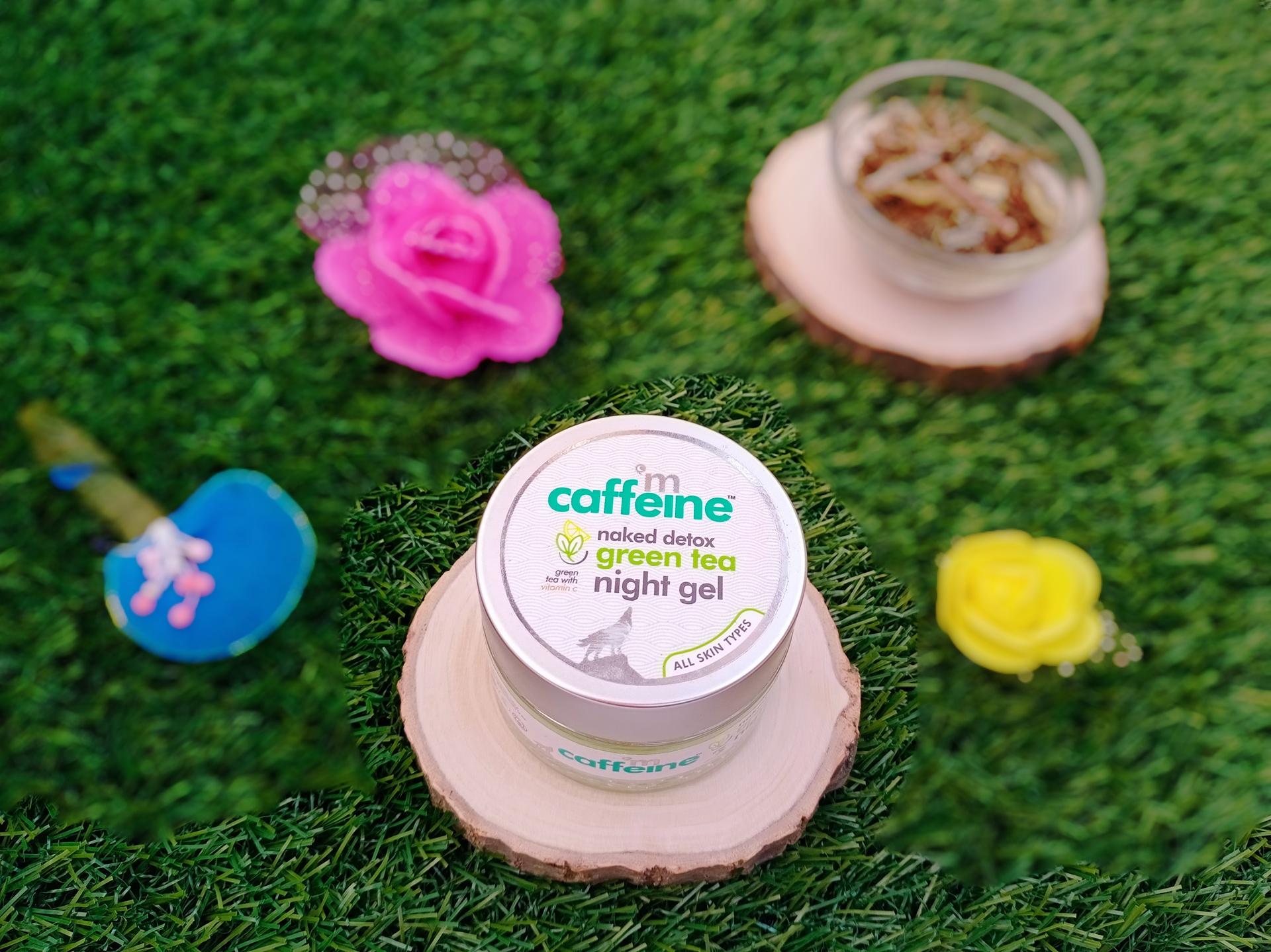 Night gel, green tea, hyaluronic acid, brightening, hydrating