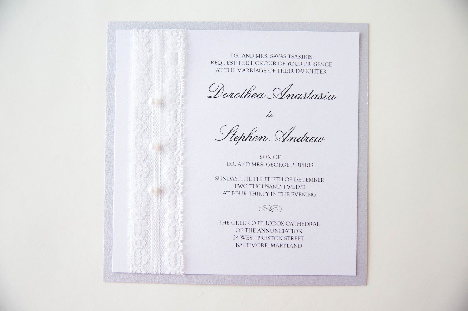 Wedding Invitations Lace And Pearl: Kindly R.S.V.P. Designs' Blog: Lace And Pearl Invitation