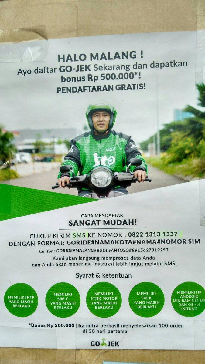 Cara Daftar Driver Gojek Via Sms Wilayah Malang