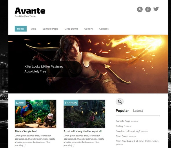 Avante wordpress theme
