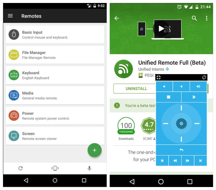 Free download unified remote for pc