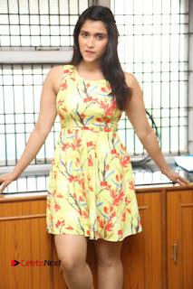 Actress Mannara Chopra Pictures in Floral Short Dress at Jakkanna Movie Interview  0049
