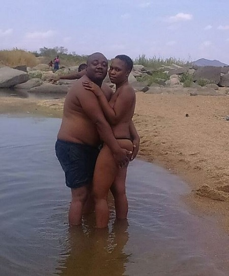Busted! Identity of this N*ked Couple Romancing in a River Finally Revealed (Photos)