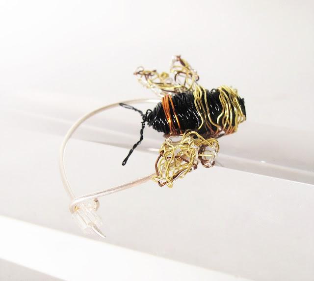 Bee brooch, art brooch