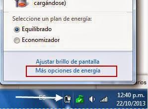 Opciones de energia