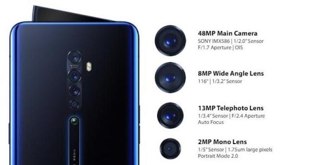 أوبو تعلن عن 3 هواتف بأربع كاميرات خلفية وأمامية منبثقة