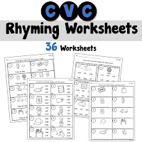 CVC Rhyming Worksheets