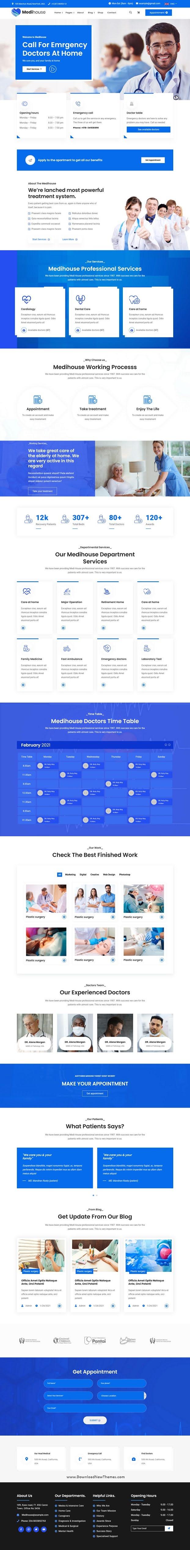 Hospital Medical Caregiver Bootstrap Template