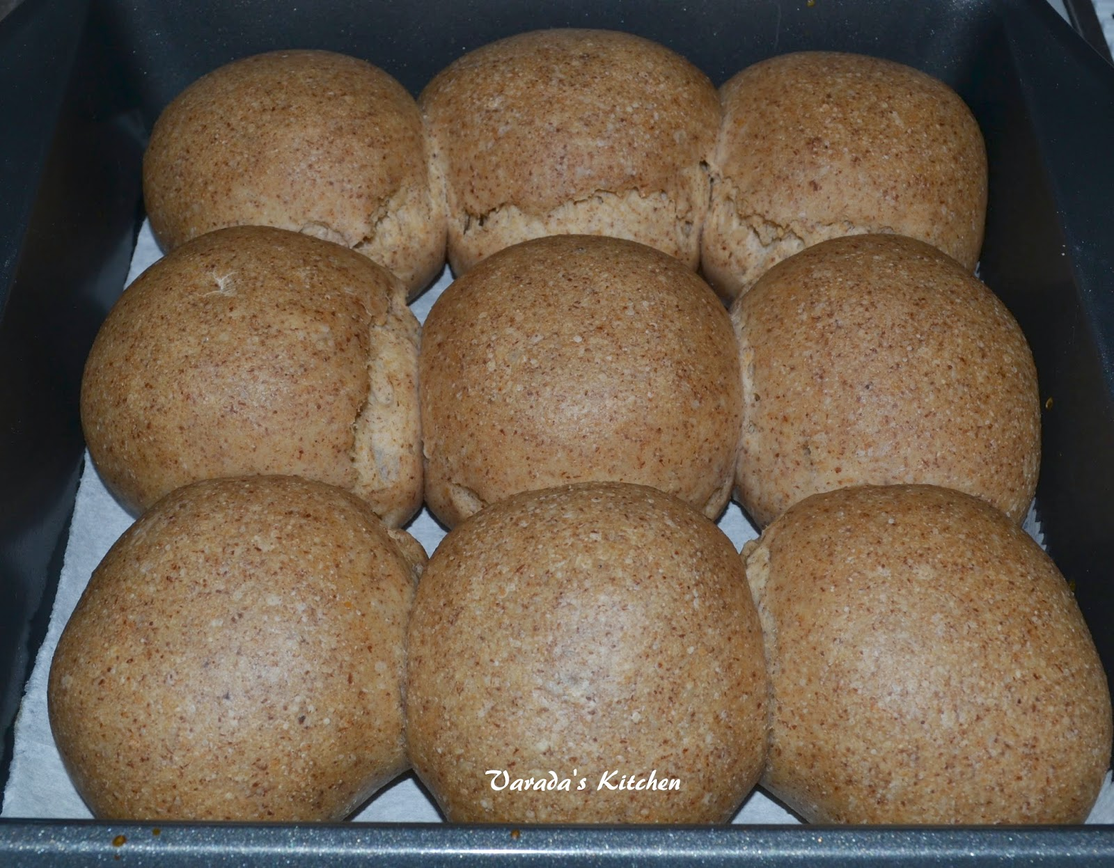 I have two types of dinner rolls in this space. I have the 100 % whole wheat  eggless and the 50% whole wheat eggless. Both use commercial yeast.