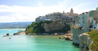The beautiful town of Vieste sits at the tip of the Gargano peninsula in Puglia