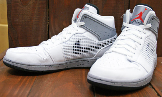 best authentic f81f7 6e73c Inspired by the original white cement grey colorway of the Air Jordan IV.  This Air Jordan 1 Retro  89 comes in a white, black, cement grey and fire  red ...