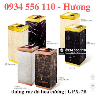 THùng rác đá hoa cương GPX-7B