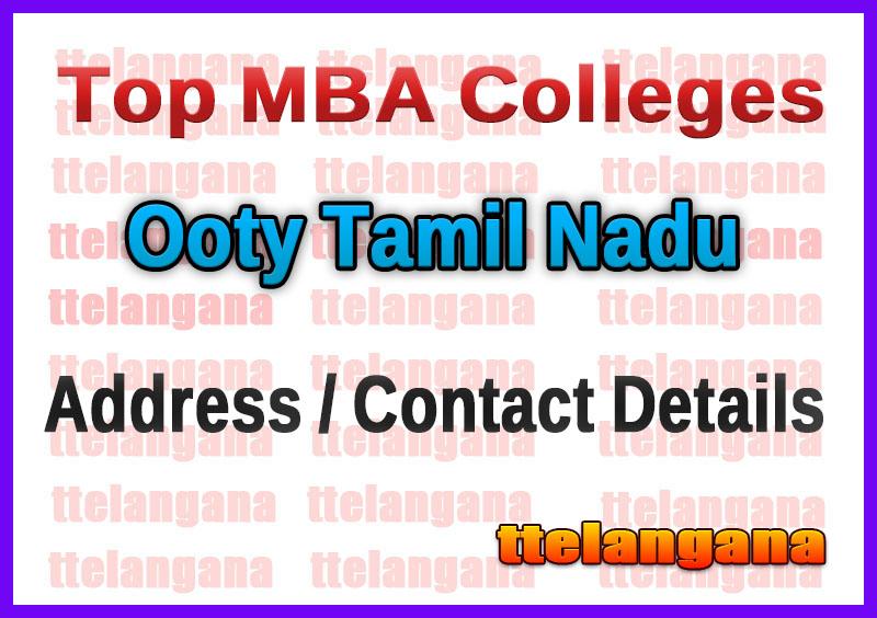 Top MBA Colleges in Ooty Tamil Nadu