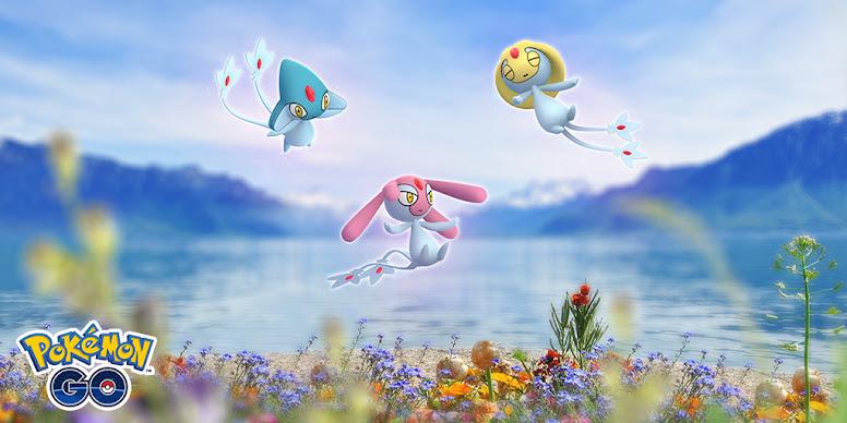 Uxie, Mesprit e Azelf em Pokémon GO