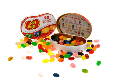 Jelly Belly bean tin, jelly bean sweets, keepsake sweets box