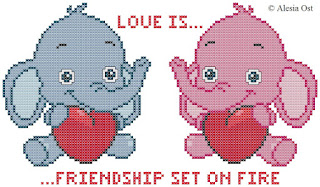 Free cross-stitch patterns, elephant, animal, heart, Valentine's day, holiday, love, cross-stitch, back stitch, cross-stitch scheme, free pattern, x-stitchmagic.blogspot.it, вышивка крестиком, бесплатная схема, punto croce, schemi punto croce gratis, DMC, blocks, symbols, patrones punto de cruz, #crossstitch_pattern, #crossstitch