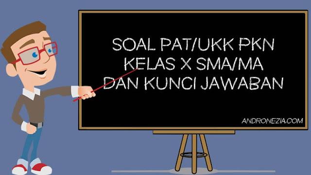 Soal PAT/UKK PKN Kelas 10 Tahun 2021