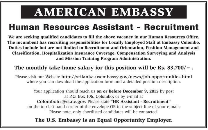 Vacancies] Human Resources Assistant (Recruitment