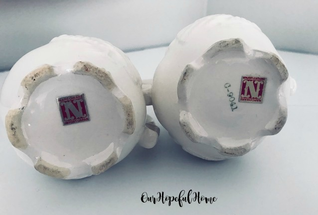 vintage Napcoware original foil label C-9041 turkey-embossed creamer sugar bowl set
