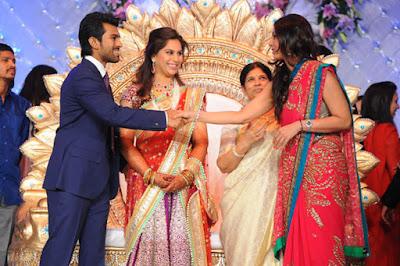 Tabu congratulating Ram Charan