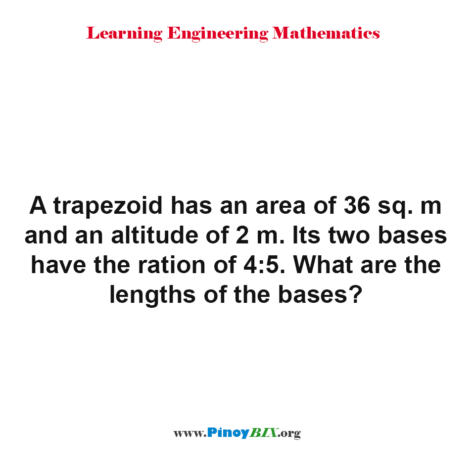 What are the lengths of the bases of a trapezoid?