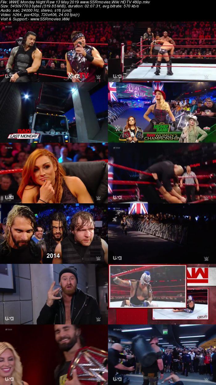 WWE Monday Night Raw 13 May 2019 Full Show Download WEBRip HDTV HDRip