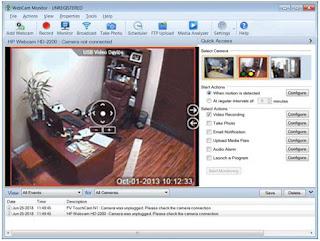 برنامج, متطور, لمراقبة, أى, مكان, باستخدام, كاميرا, الكمبيوتر, WebCam ,Monitor