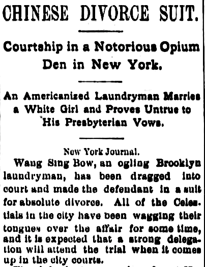 """Chinese Divorce Suit,"" The Mail (Stockton, CA) 24 Jun 1886, p.2"
