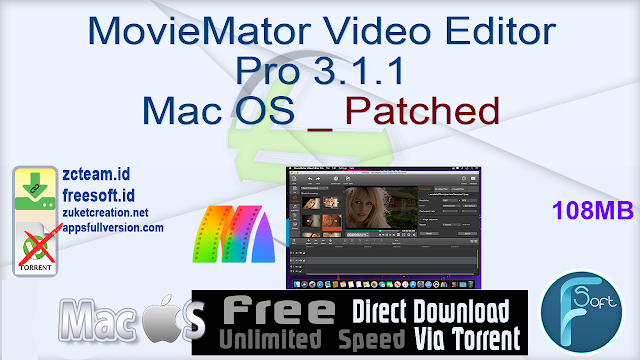 MovieMator Video Editor Pro 3.1.1 Mac OS _ Patched_ ZcTeam.id
