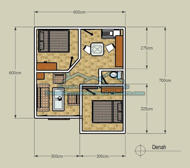 Denah Rumah Minimalis | Nalaza Property