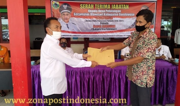 Serah Terima Jabatan Kepala Desa Pelalangan Kecamatan Wonosari Kabupaten Bondowoso