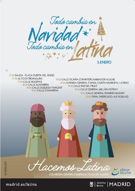 Cabalgata de Reyes de La Latina 2018. Fecha , horario y recorrido