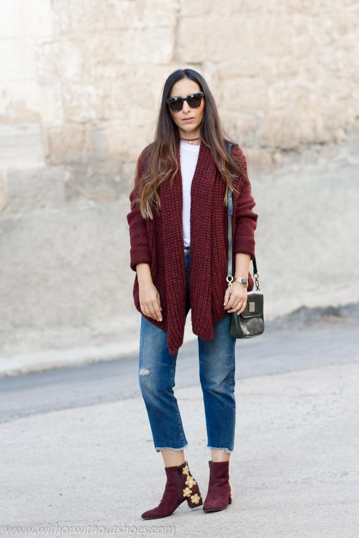 BLogger influencer de moda de Valencia con look abrigado para el frio