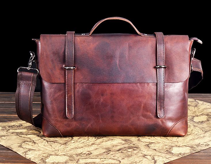 c1b7d07ecf Vintage Brown Fashionable Gentlemen Leather Briefcase