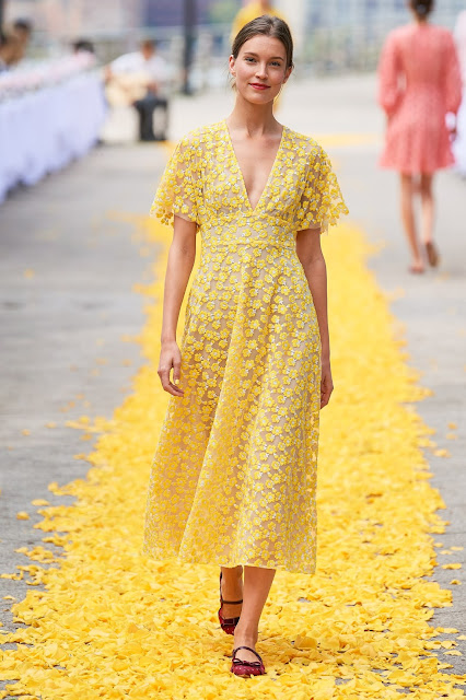 Yellow dress for spring and summer