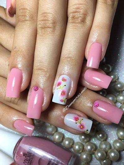unhas decoradas rosa 10