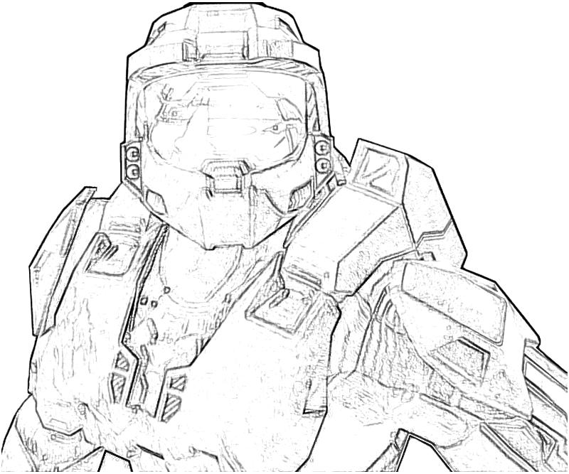 halo 4 character coloring pages list | Halo 4 Cortana Character | How Coloring