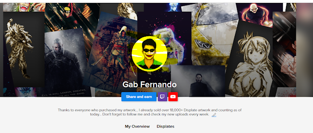 Gab Fernando profile logo on Displate