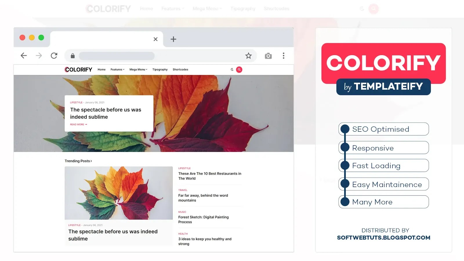 Colorify Blogger Template