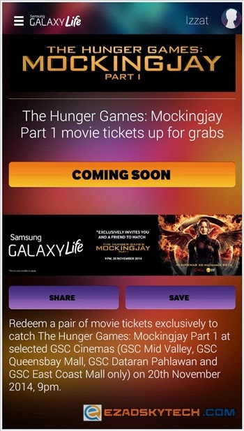 Tiket Wayang Percuma The Hunger Games : Mockingjay - Part 1 ?
