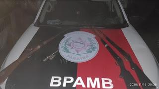 Polícia apreende armas em ação de combate à caça ilegal em Sertãozinho, PB
