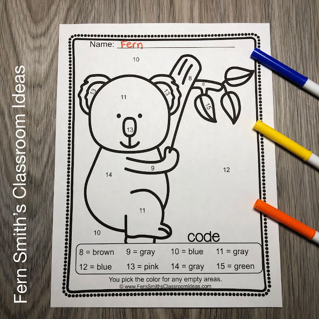 Click Here to Get These Awesome Animals Color By Number Kindergarten Know Your Numbers Resource #FernSmithsClassroomIdeas