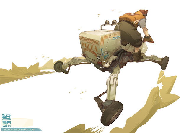 Desert Delivery Fast Food Pizza by Brosa on DeviantArt