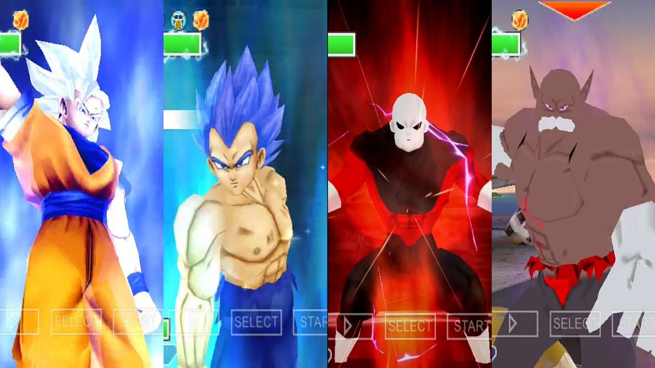 Dragon Ball Super Goku, Vegeta, Jiren and Toppo