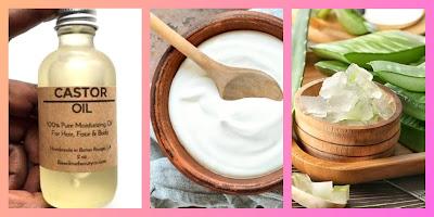 Castor oil & yoghurt & aloe vera