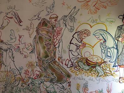 hand painted interior of Chapelle Notre-Dame des Chauveix in Vicq-sur-Breuilh