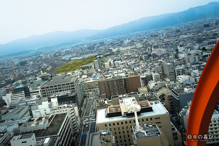 vue sur la ville depuis la kyoto tower